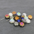 Dome Beads 12x7 mm Etched Sliperit Full x5