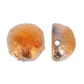 Dome Beads 12x7 mm Etched Sunset Full x5