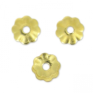 Coppette fiori 3 mm en Gold filled 14 carati x20