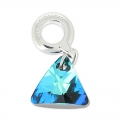 Triangle Charms Swarovski 87002 mm. 12 Crystal Bermuda Blue x1