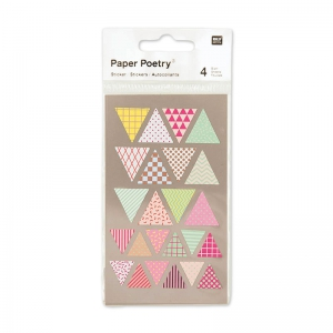 Stickers Paper Poetry triangoli 15-20 mm Multicolore x96