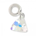 Triangle Charms Swarovski 87002 mm. 12 Crystal AB x1