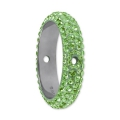 Pavé Ring due fori Swarovski 185001 mm. 18.5 Peridot