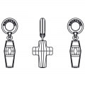 Cross Charms Swarovski 87005 mm. 14 Crystal AB x1