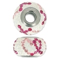 BeCharmed Pavé Swarovski 81943 mm. 14 Light Rose/Fuchsia/White Opal x1