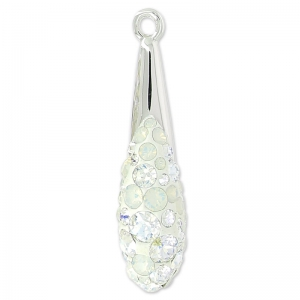 Pavé Pendente Swarovski 67452 20 mm Crystal Moonlight/White Opal x1