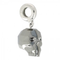 Skull Charms Swarovski 87008 mm. 13 Crystal Silver Night 2X x1