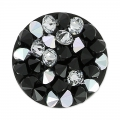 Crystal Rocks Rond Swarovski 340081 15 mm Jet/Crystal CAL x1
