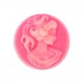 40x30 Rosa Chiaro x1 Perles /& Co Cammeo resina Le 3 Grazie mm