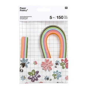 Set strisce di carta per quilling  Paper Poetry 5mm Fiori x150