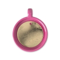 Supporto pendente per cabochon calamitato 25 mm Rosa x1