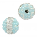 Tonda plastilina con strass 10 mm Crystal/Light Blue