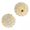 Tonda plastilina con strass 10 mm Crystal/Light Peach