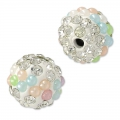 Tonda plastilina con strass 10 mm Crystal/Multicolore