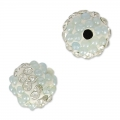 Tonda plastilina con strass 8 mm Crystal/Light Blue