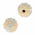 Tonda plastilina con strass 8 mm Crystal/Light Peach
