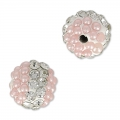 Tonda plastilina con strass 8 mm Crystal/Light Rose