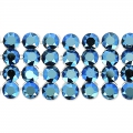 Swarovski Crystal Mesh 40001 4 fili mm.11 Crystal Metallic Blue x5cm