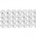 Swarovski Crystal Mesh 40001 4 fili mm.11 Crystal Silver Night x5cm