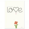 Cartolina Fifi Mandirac 15x10.5 cm All You  Need Is Love x1