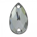 Cabochon 3230 mm. 28x17 Crystal Silver Night x1