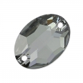 Cabochon 3210 forato ovale mm. 16x11 Crystal Silver Night x1