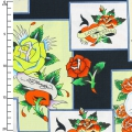 Tessuto Love Is True by Ed Hardy - Overlapping Patches x10cm