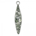 Pavé Pendente Swarovski 67472 20 mm Crystal Sil Shade/Black Diamond x1