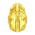 Scarab bead Swarovski 5728 12 mm Crystal Metallic Sunshine x1