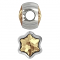 BeCharmed Pavé Swarovski 81961 mm. 13.5 Crystal Golden Shadow x1