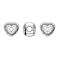 BeCharmed Pavé Swarovski 81951 mm. 14 Crystal AB x1