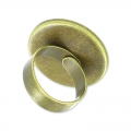 Anello in ottone Castone retro piatto mm. 18 bronzo x1