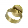 Anello in ottone Castone retro piatto mm. 18x13 bronzo x1