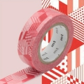 Masking Tape 15 mm Cubi Rosso x10m