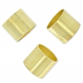 Passanti tubici per cordoni 6 mm light gold HQ x5
