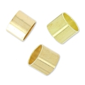 Passanti tubici per cordoni 4 mm light gold HQ x8