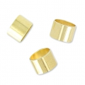 Passanti tubici per cordoni 3 mm light gold HQ x10