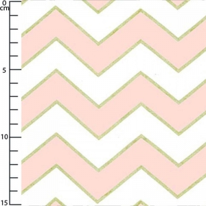 Tessuto Michael Miller - Chic Chevron Pearlized Blush x10cm