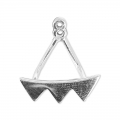 Orecchini Ear Jackets triangoli mm.18 in Argento 925  x2