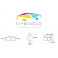 Diamonduo 2-hole mm.5x8 White Alabaster x10g