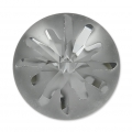Cabochon Swarovski 1695 Sea Urchin 14 mm Crystal Silver Night semi-mat