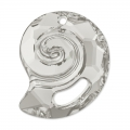 Pendente Sea Snail Swarovski 6731 mm.28 Crystal Silver Shade semi-mat