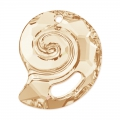 Pendente Sea Snail Swarovski 6731 mm.28 Crystal Golden Shadow semi-mat