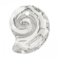 Pendente Sea Snail Swarovski 6731 mm.14 Crystal Silver Shade semi-mat