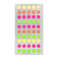 Assortimento di 200 Stickers di Bureau Paper Poetry Pallini mm.8 Fluo