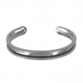 Base in ottone per bracciale Eco con bordo incurvato mm. 10 gunmetal x1