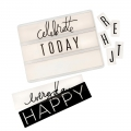 Lightbox Heidi Swapp - Diapositive Happy/Birthday/Celebrate/Everyday