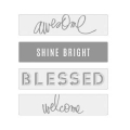 Lightbox Heidi Swapp - Diapositive Awesome/Shine Bright/Blessed/ Welcome