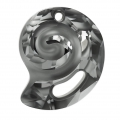 Pendente Sea Snail Swarovski 6731 mm.28 Crystal Silver Night semi-mat