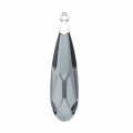 Raindrop Swarovski 6533 mm.17.5 Crystal Silver Night/rodiato x1